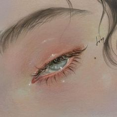 How to Draw a Realistic Eye Realistic Eye, Realistic Drawings, Cute Drawings, Aesthetic Painting, Aesthetic Art, Aesthetic Anime, Illustration Art, Illustrations, Anime Eyes