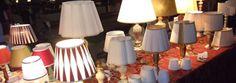 Paralumi artigianali standard e su misura ,sospensioni a paralume ,ventoline per applique (paralumi a metà) .Ssospensioni in tutte le forme e misure per arredamento di location private e commerciali.Creazione lampade da oggetti vari e souvenir.
