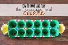 East African Game: How to Make and Play the Mancala Game Oware at Marie's Pastiche.