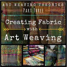Art Weaving: How to weave handspun yarn into fiber art. Video tutorial from UrbanGypZ.com #weaving #artyarn