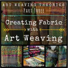 Art Weaving: How to weave handspun yarn into fiber art. Video tutorial from UrbanGypZ.com #weaving #artyarn