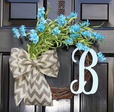 Summer wreath for door Spring Wreath Burlap by OurSentiments, $60.00
