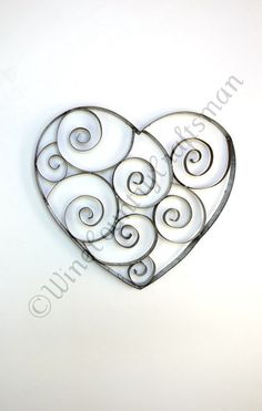 Wine Barrel Ring Heart with swirls - 100% recycled from Napa Barrel rings $85.00