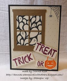 Howl-o-Ween Treat with Happy Haunting DSP and Hearth and Home Thinlits by Stamps Well With Others