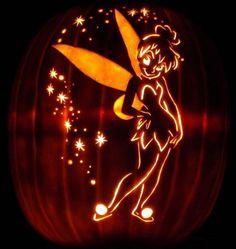 Peter Pan Pumpkin design and Tinkerbell Pumpkin Carving design.