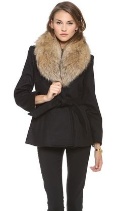alice and olivia trimmed coat #evana #ad *lovely