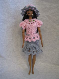 Barbie doll clothes fits modern & vintage Barbie - handmade crocheted outfit #Unbranded