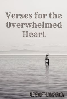 Verses For the Overwhelmed Heart - Verses of Scripture for When You Are Feeling Overwhemled: Wheat does the Bible Say About Being Overwhelmed? Where Is God When I am Overwhelmed?
