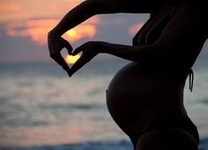 Photo Ideas & Inspirations / Pregnancy, Baby, Heart, Beach, Love, Mother