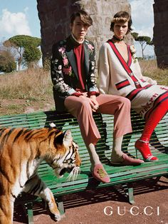 Hanging out with tigers, the Gucci Spring Summer 2017 campaign photographed by Glen Luchford features old and new House codes and elements.