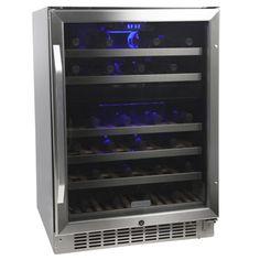 EdgeStar 46 Bottle Built-In Dual Zone Wine Cooler Video Image