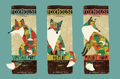 Wine Labels by Livy Long, via Behance