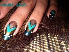 Indian indi nails ethnic nails