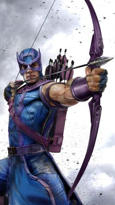 Hawkeye (Clint Barton) by John Gallagher - Marvel Comics Comic Book Characters, Comic Book Heroes, Marvel Characters, Comic Character, Comic Books Art, Comic Art, Batwoman, Nightwing, Marvel Dc