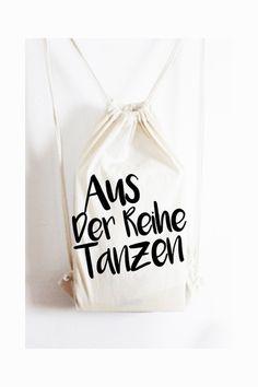 """Turnbeutel - Turnbeutel """"Tanzen"""" Jutebeutel Tasche Gymsac - ein Designerstück von KitschUndKrempel bei DaWanda"""