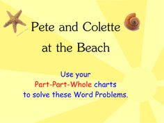 Part-Part-Whole Word Problems (at the beach)