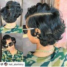 Today, we are addressing the topic of short haircut and we are looking at a series of 20 short-cut women's crop ideas centered around the pixie and the square. These two types of short haircut are among the most popular… Continue Reading → Black Girls Hairstyles, Short Bob Hairstyles, Mommy Hairstyles, Ponytail Hairstyles, Pressed Natural Hair, Curly Hair Styles, Natural Hair Styles, Sassy Hair, Relaxed Hair