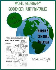 Starts at Eight has a FREE World Geography Printable scavenger Hunt. This is a fun way to get your children excited about geography.  Click here