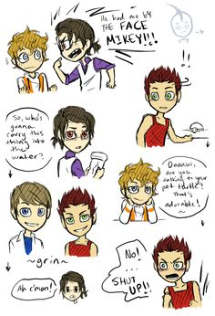 turtles as people! Cute! Mikey looks like the guy I have a crush on!