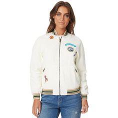 Roxy Womens Muse Bomber Jacket Natural