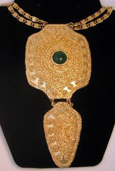 "Vintage Napier ""Egyptian Collection"" Medallion Necklace"