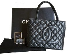 6476e693f5a1 SOLD Authentic Vintage Chanel CC Stitching Caviar Medallion Tote bag As  seen as on Lauren Conrad