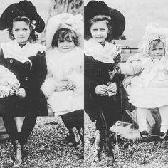 Grand Duchesses OTMA Nikolaevna of Russia as little children. by historyofromanovs