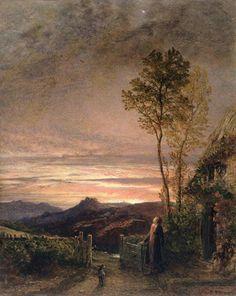 The Rising of the Skylark, Samuel Palmer. English Romantic Painter (1805-1881)