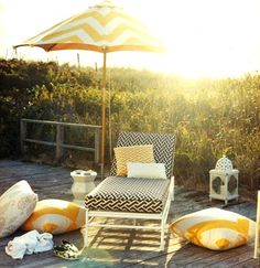 Black and yellow outdoors. domino mag patio by coco+kelley, via Flickr
