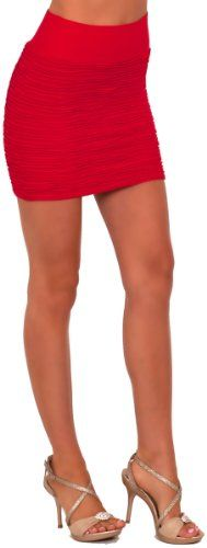 Banded Slip On Soft Knit Textured Evening Clubwear Party Fitted Mini Skirt ♥