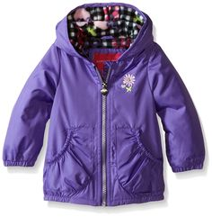 London Fog Baby Girls' Midweight Poly Fleece Lined Jacket ** You will love this! More info here : Baby clothes