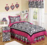 little girls zebra room