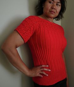 Ravelry: adriene's Bottoms Up with longer, wider sleeves