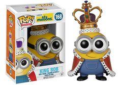 Pop! Movies: Minions - King Bob   Funko - Il me la faut ! C'est dommage que ses yeux ne soient pas comme dans le film ^^ Mon Bobinou <3