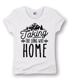 Another great find on #zulily! White 'Taking The Long Way' Fitted Short-Sleeve Tee #zulilyfinds