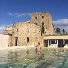 Montalcino e suas águas termais-vista do castelo com a sister Essayra Raisa