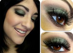 girlshue - 25 Best Green Smokey Eye Make Up Ideas, Looks & Pictures