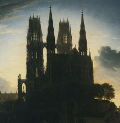 Karl Friedrich Schinkel - Gothic Cathedral by the Waterside (detail)