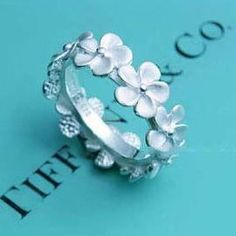 SO CUTE!! Forget me not ring from Tiffanys. - Click image to find more Hair & Beauty Pinterest pins
