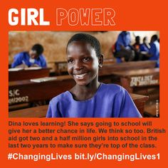 Girl power by DFID - UK Department for International Development, via Flickr Two And A Half, International Development, Family Planning, Close To My Heart, People Around The World, Helping People, Girl Power, How To Plan, Learning