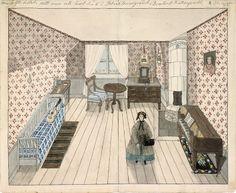 Min tolfte bostad. Mitt rum uti huset N:6 i Blecktornsgränd, Qvarteret Katthufvudet, 2 tr upp - Stockholmskällan