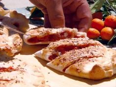 Strawberry Rhubarb Calzone | Michael Chiarello | CookingChannelTV.com
