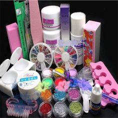 Prego quente Art acrílico líquido Glitter pó arquivo escova Form dicas ferramentas alishoppbrasil