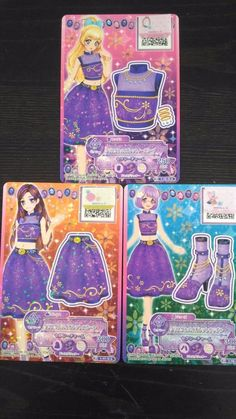 "Trading card of Japanese Animation ""AIKATSU STARS"" crystal violet coorde 7"