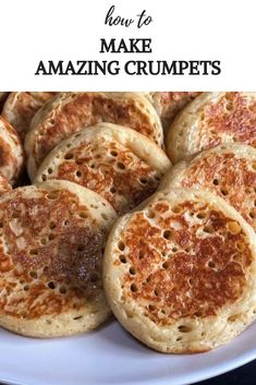 Seriously good Crumpets, no rubbery texture here. So easy you can even use a pie maker. Mini Pie Recipes, My Recipes, Chicken Recipes, Favorite Recipes, Desserts To Make, Food To Make, Breakfast Pie, Breakfast Ideas, Homemade Crumpets