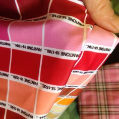 The pink has been chosen! It's got to be the shade 15-278 for this customer. This swimsuit/bikini is going to be special, we can tell #fabric #Lycra #colourchart
