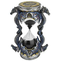 Death's Door Dragon Sandtimer SkyMall ($30) ❤ liked on Polyvore featuring home, home decor, decor, filler, accessories, dragon home decor and black home decor