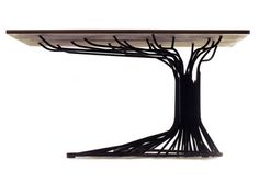 "A table with a base of hand curved steel bars that represent the trunk and branches of a tree. Bomers"" NR. 1 table by Jeroen Bomers via @designboom"