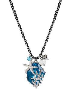 ICONIC SEA GEM OF THE SEA PENDANT BLUE accessories jewelry necklaces fashion