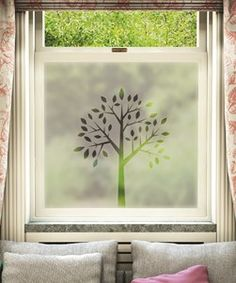 Bathroom - window films - so many to choose from!